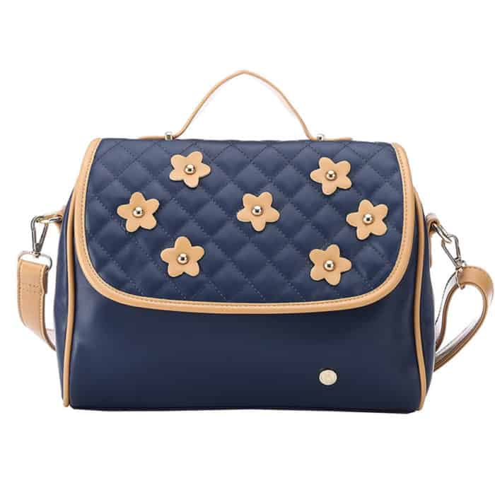 Navy Blue Leather Designer Handbags for Christmas
