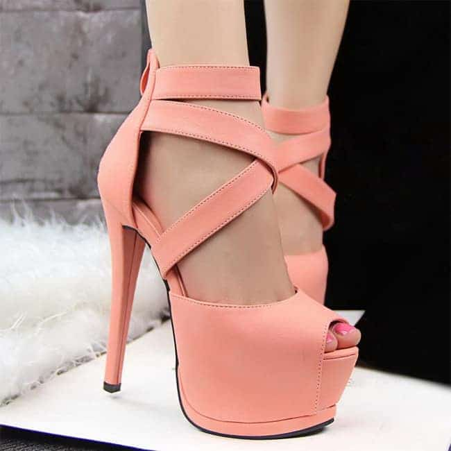 New High Heels Ankle Warp Sandals for Girls