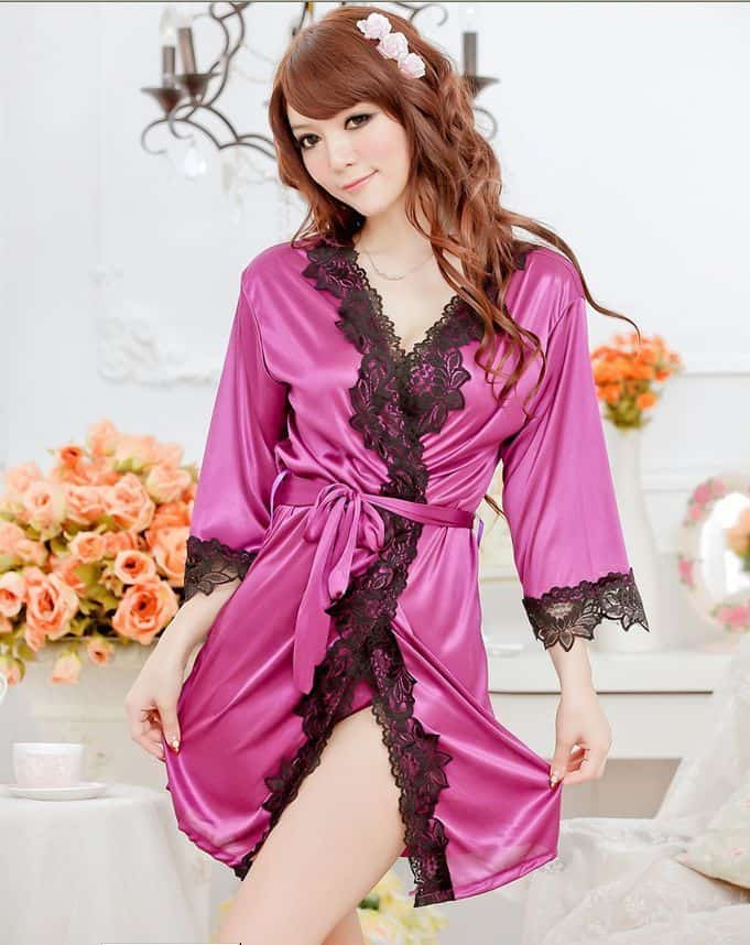 Nighty Wear Long Sleeves Gown for Girls