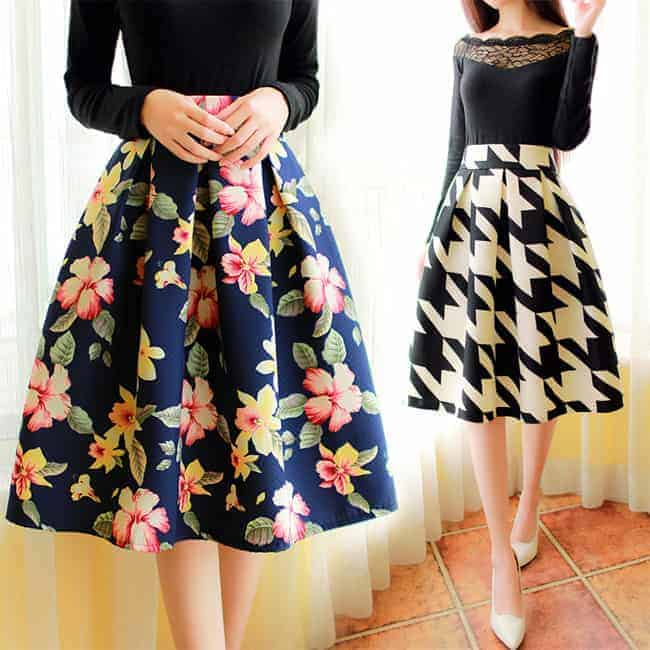 Cute Knee Length Skirts Outfits 2016 - SheIdeas