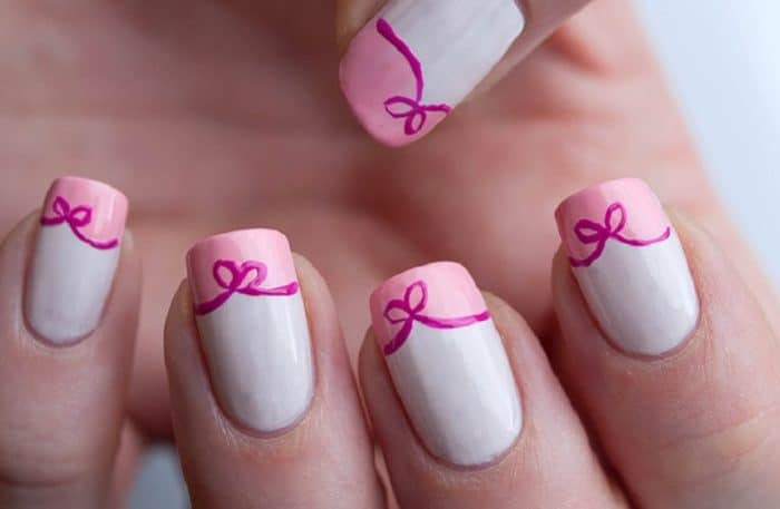 Simple Flower Nail Polish Designs