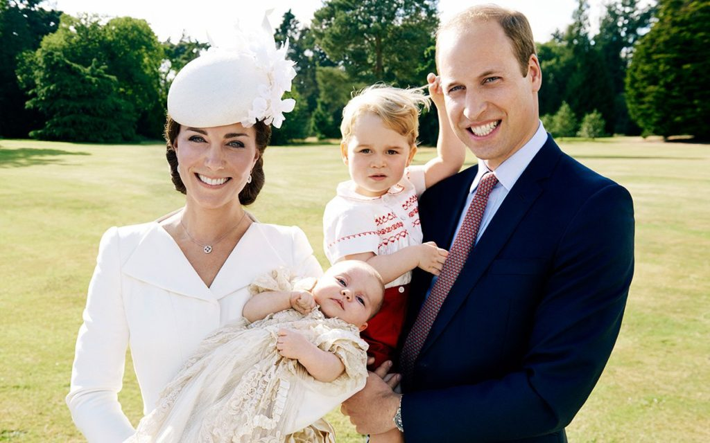 Princess Charlotte, Prince George and Prince William - Royal Family Portrait