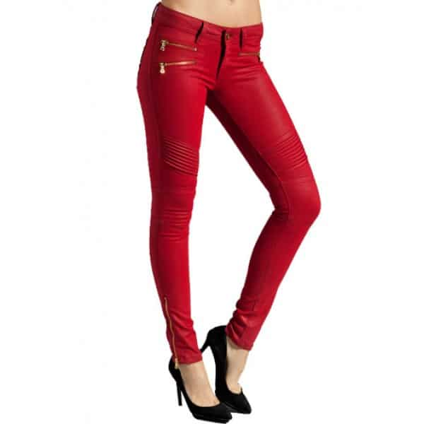 Creative Respa Skinny Red Leather Pants  Leather4sure Leather Pants