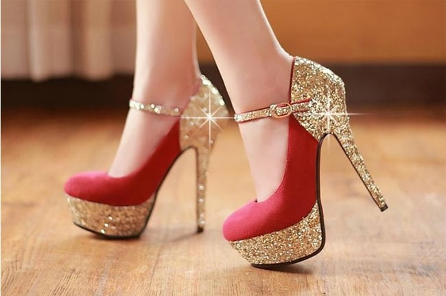 Long heel shoes pictures