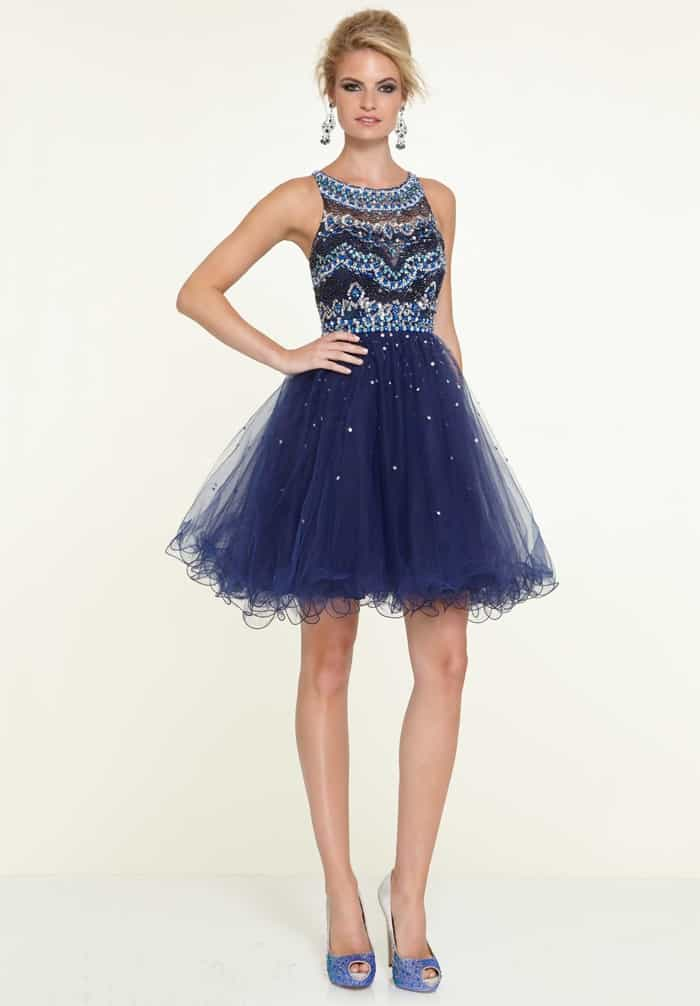 Short Navy Blue Prom Homecoming Dresses
