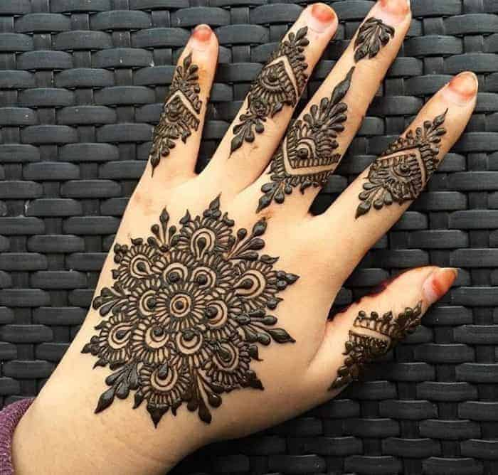 27 beautiful mehndi design images 2017 sheideas for Pakistani simple house designs