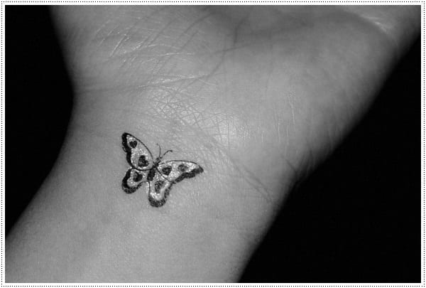 Small Butterfly Wrist Tattoo for Couple
