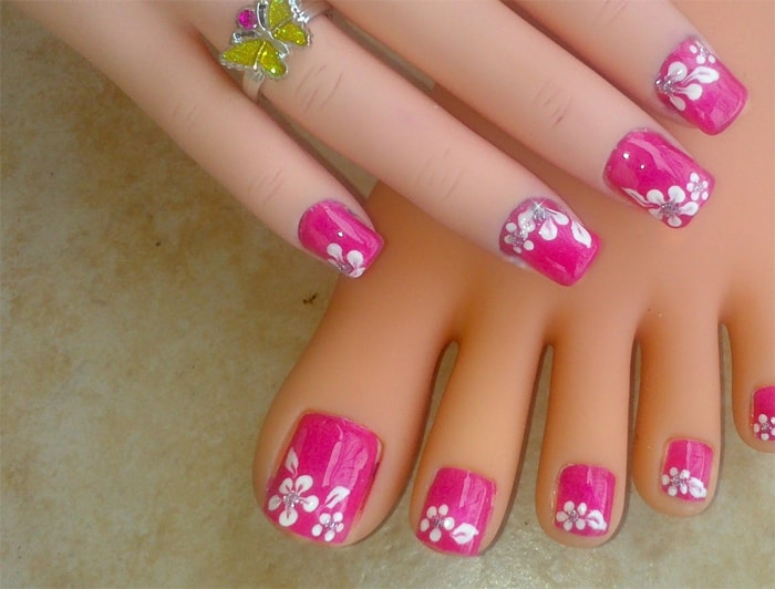Toe Nail Designs Colorful