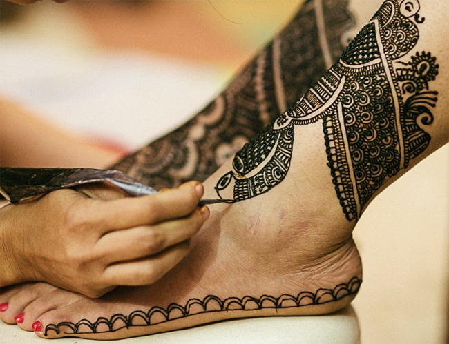 Super Indian Wedding Henna Tattoos for Foot