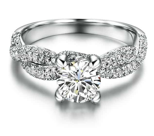 Synthetic Diamond Engagement Ring for Girls