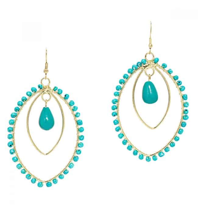 Trendy Spirit in Turquoise Earrings for Party