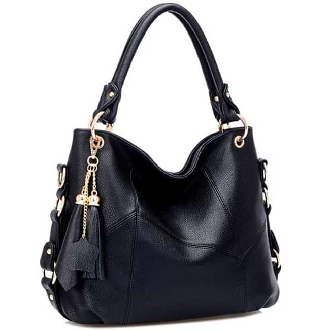 Unique Black Leather Handbags on Sale