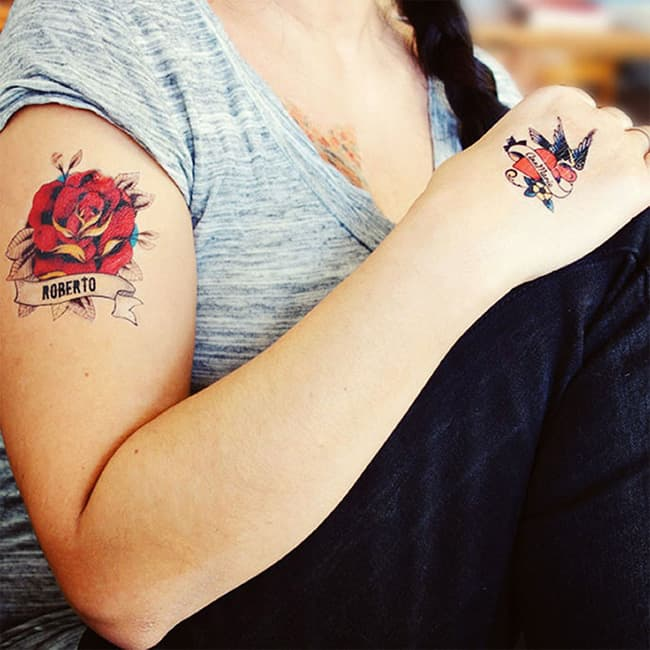 Valentine's Day Rose Flower Tattoos Ideas 2016