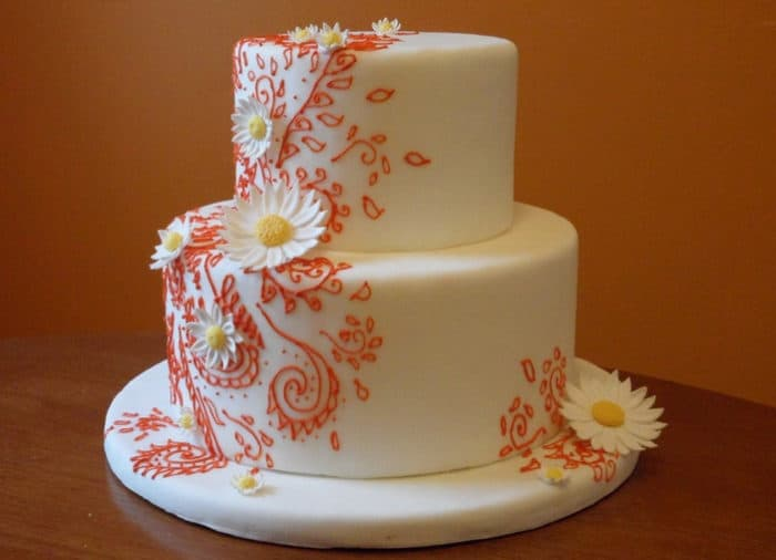 Wedding Henna Design Cake for Party