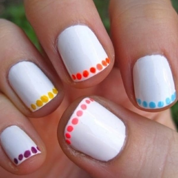 Cool Nail Designs With White Nail Polish