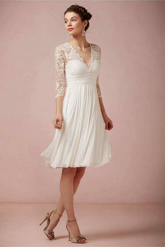 White Prom Summer Dresses With Sleeves