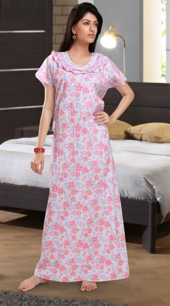 Women Long Nighty Dress Online for Sleeping