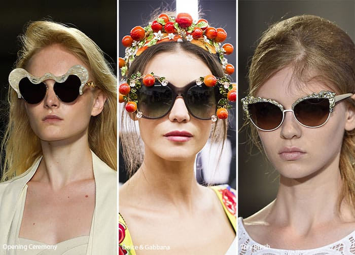 Women Sunglasses with Embellishments for Summer