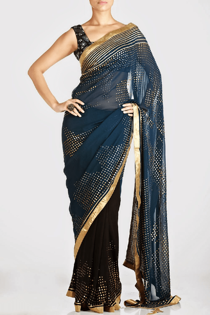 fabulous saree design for evening function