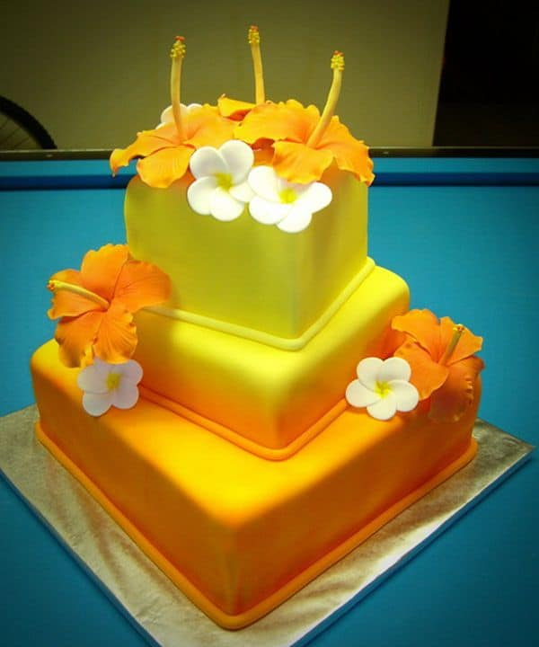 Hawaiian Themed Wedding Ideas: Top 33 Fantastic Henna Wedding Cake Designs