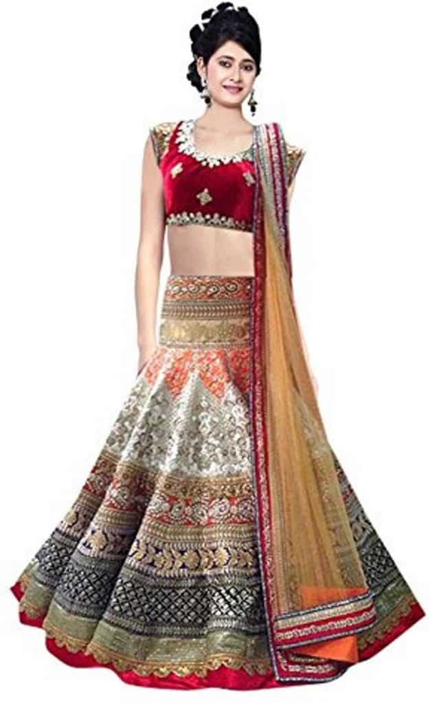 attractive lehenga choli design of 2017