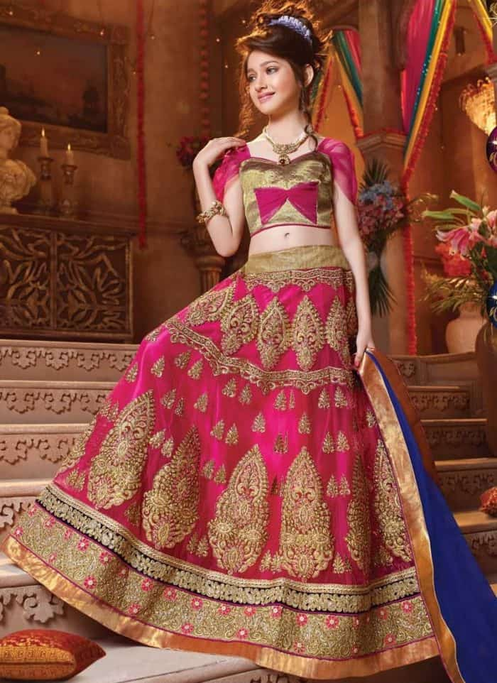 lehnga saree design for girls