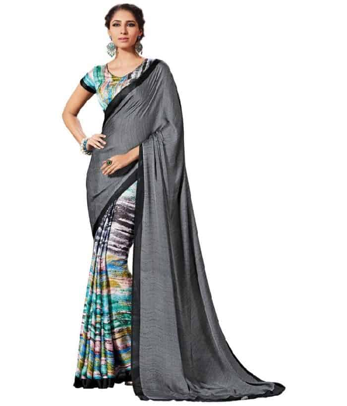 multi colored saree design for females