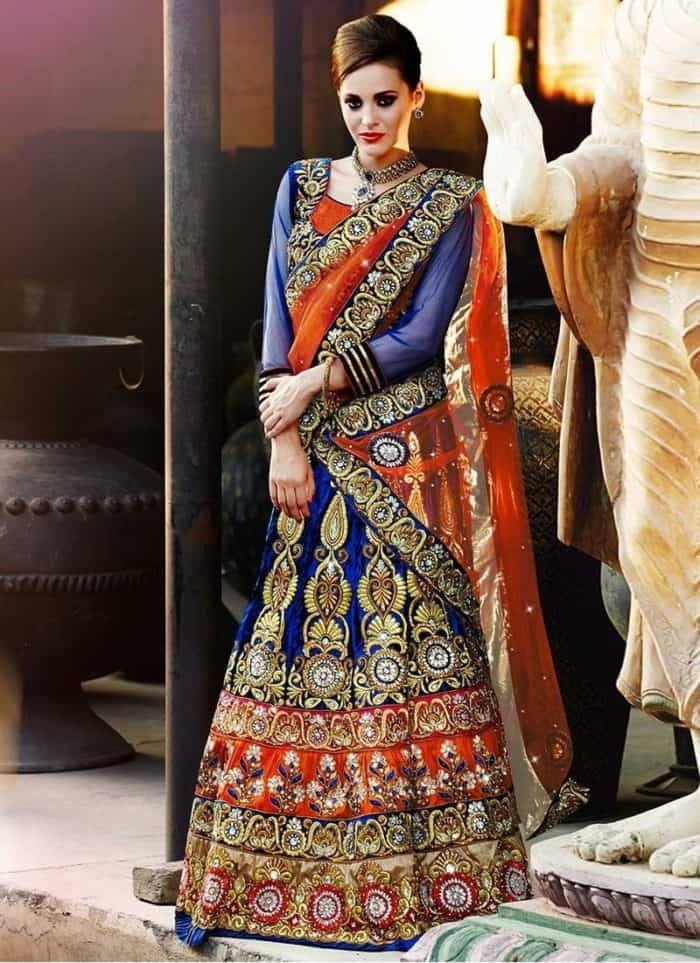 royal design of lehenga choli