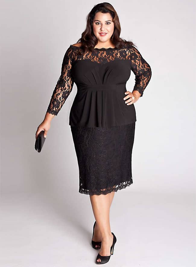 2016 Black Evening Plus Size Dresses for Women