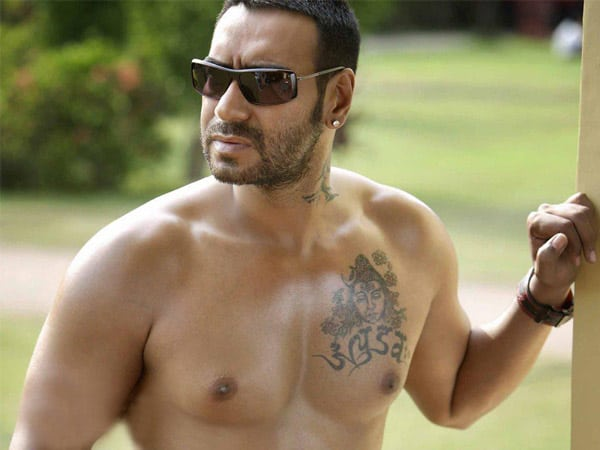 Ajay Devgan Tattoo Design on Chest 2016
