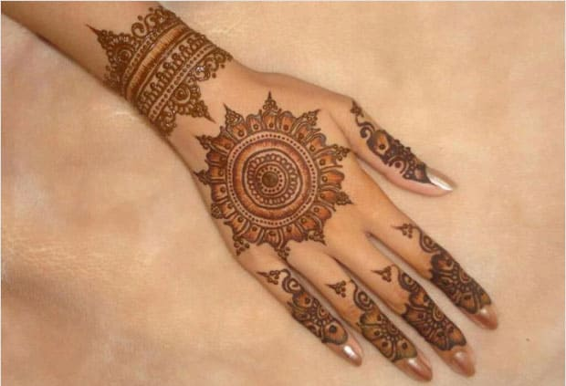 Amazing Circle Mehndi Designs for Hands