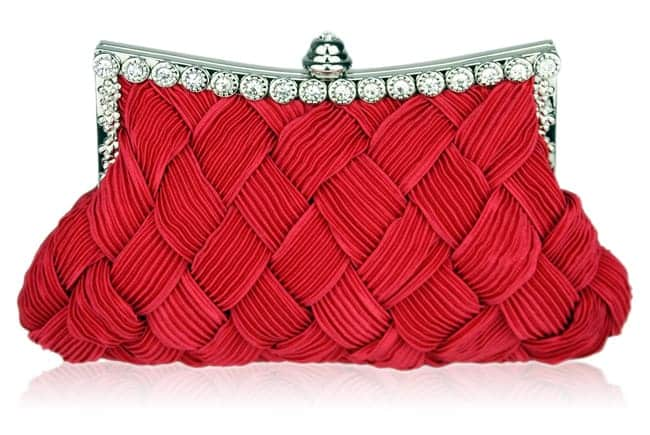 Amazing Evening Red Crystal Clutch Handbags