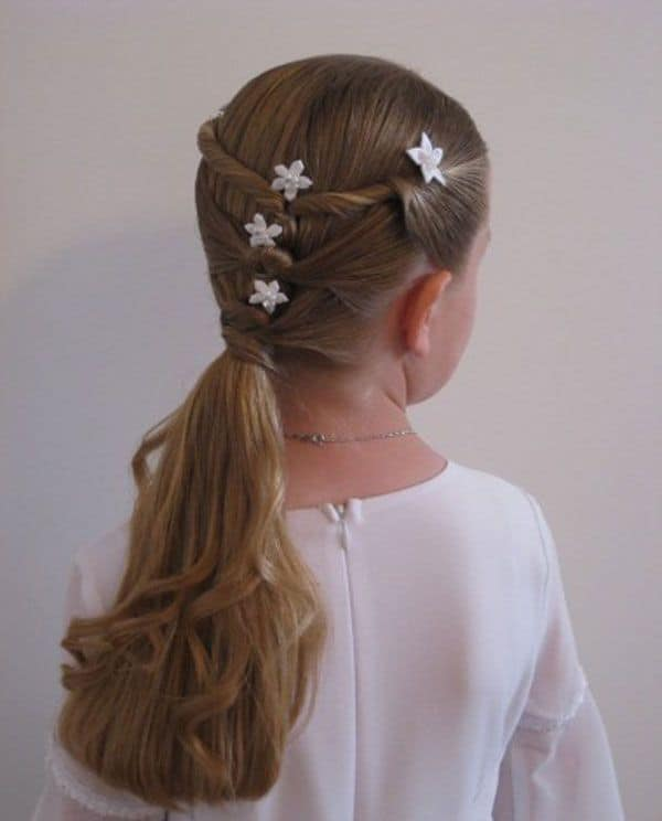 Amazing Ponytail Hairstyle for Little Girls 2016