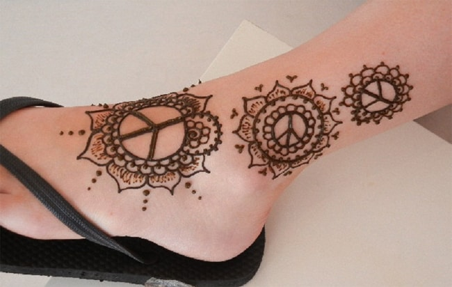 Ankle Henna Tattoo Ideas for Women 2016