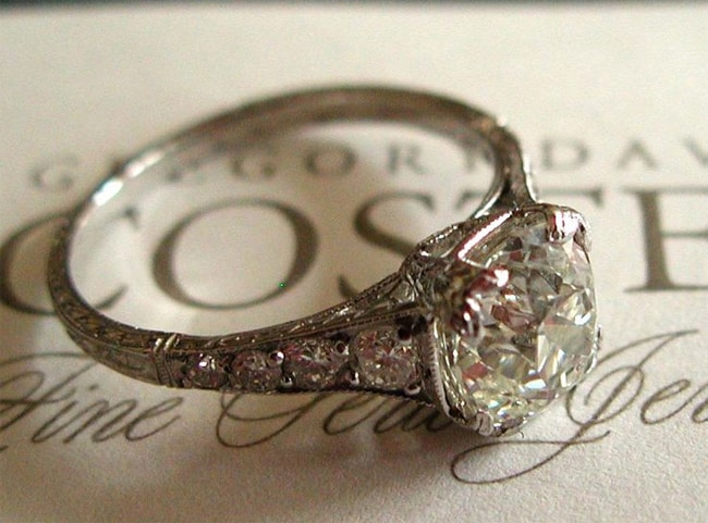 Antique Cushion Cut Diamond Engagement Rings