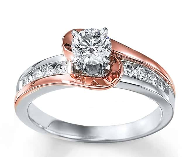 Antique Style White Gold Wedding Rings