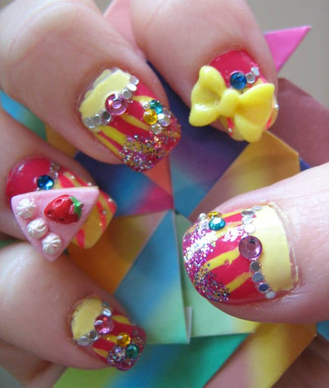 Awesome 3D Nail Art Designs for Women