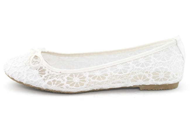 Awesome White Wedding Flat Shoes for 2016-17