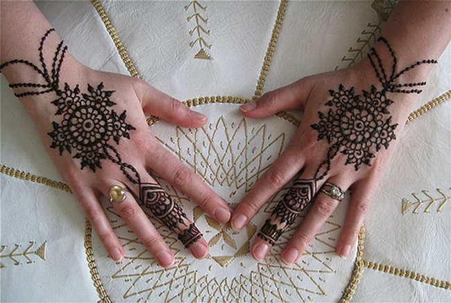 Back Hand Mehndi Bracelet Designs for Girls