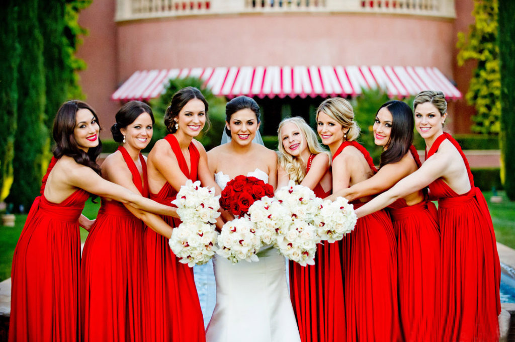 Beautiful Red Bridesmaids Dresses Designs