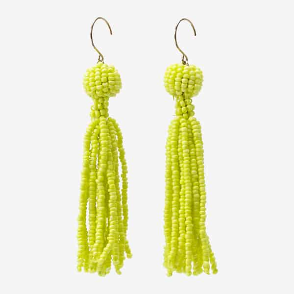 Beautiful Yellow Beaded Earring Style for Party