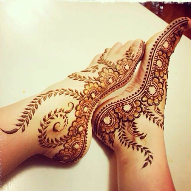 Best Foot Mehndi Design Images