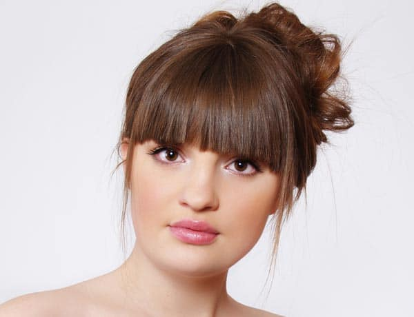 Best Full Fringe Updo Hairstyles for Girls