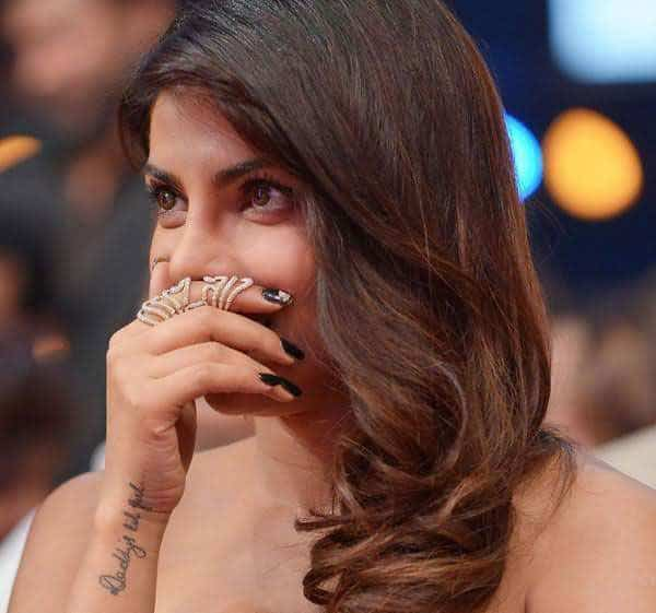 Best Priyanka Chopra Tattoo Design on Hand