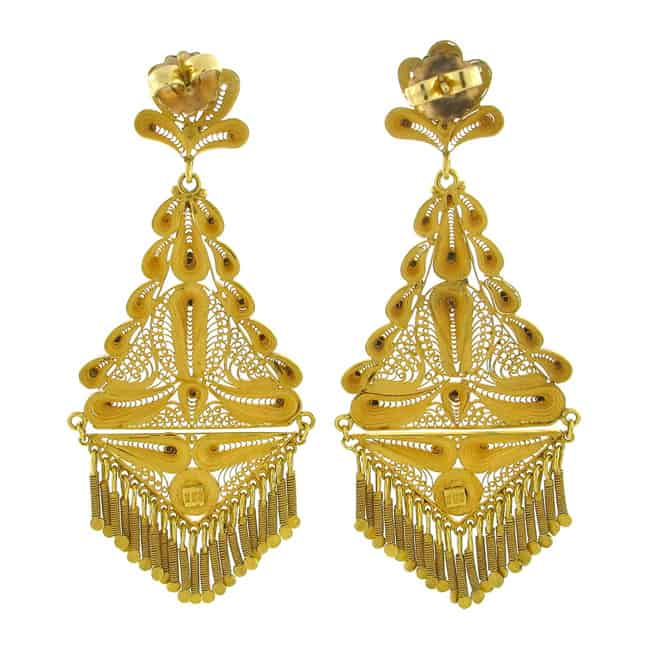 Big Gold Chandelier Earrings Designs