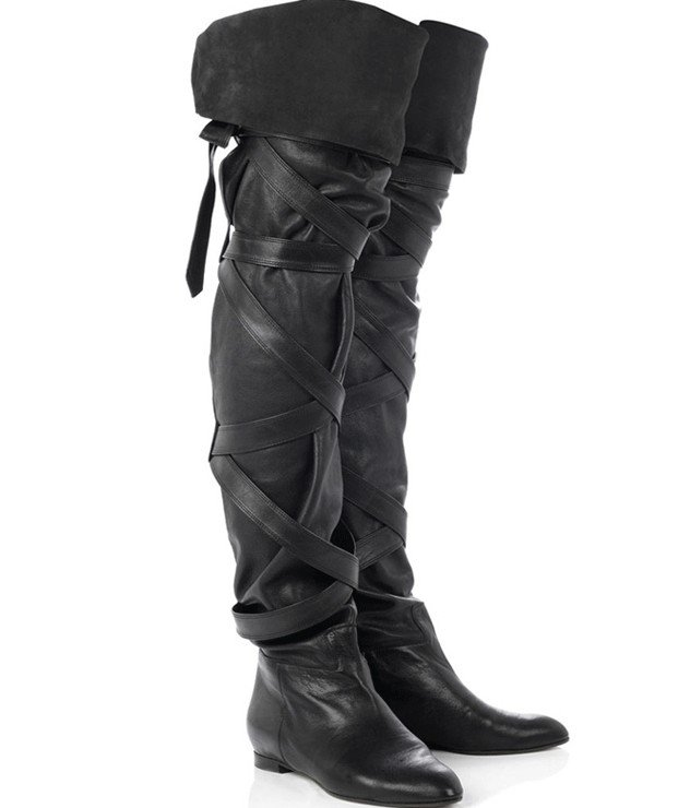 Black Leather Ladies Long Boot Images
