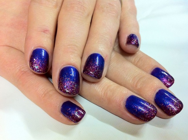 Blue Shellac Manicure Designs Pictures