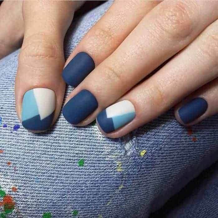 Blue and White Gel Nail Art Designs - 25 Beautiful And Simple Nail Art Designs - SheIdeas
