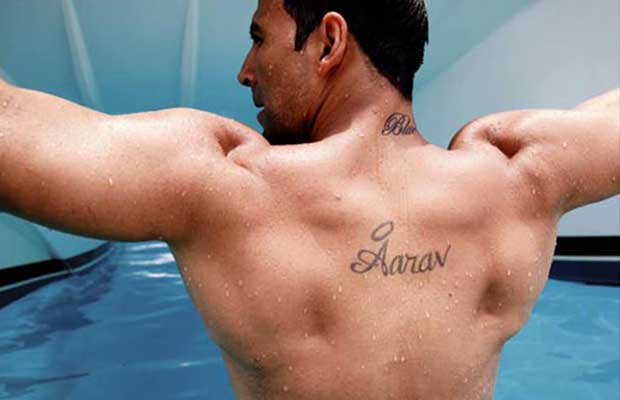 Bollywood Star Akshay Kumar Tattoo on Back