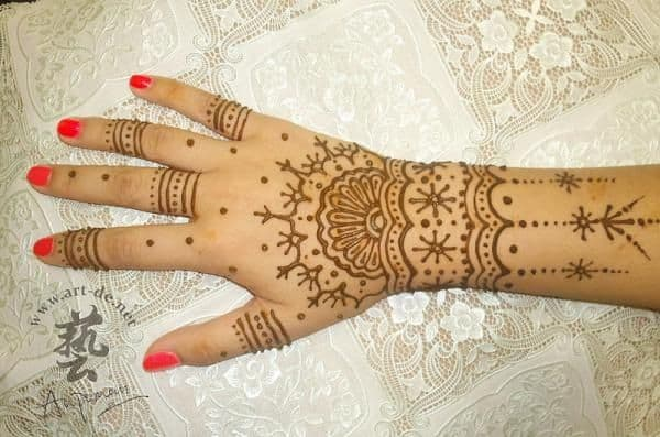 Brown Henna Tattoo Designs for Girls